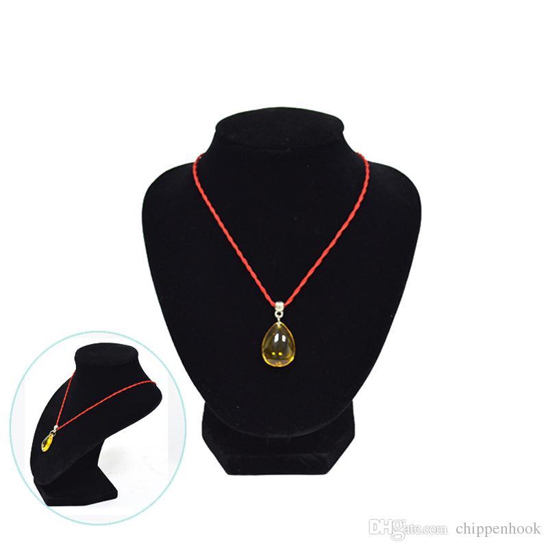Groothandel promotie sieraden ketting display stands buste torso zwart fluwelen middelgrote maat