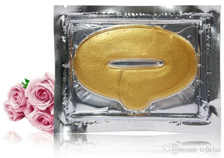 سعر المصنع الذهب مثير كريستال غشاء الكولاجين الرطوبة جوهر العناية الشفاه أقنعة frMasks Peelsee الشحن DHL