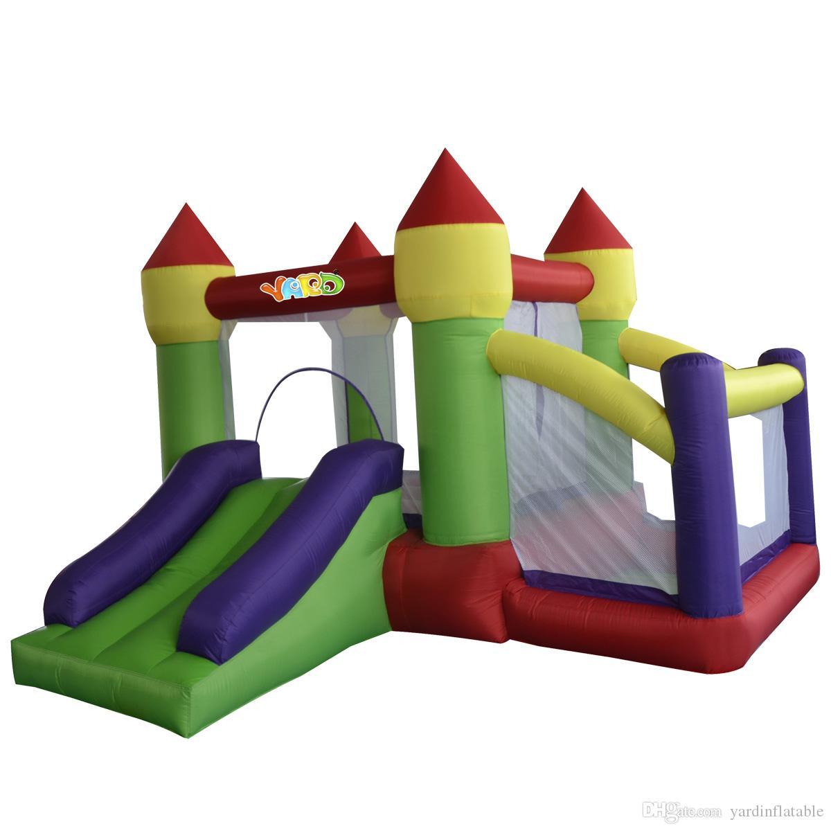 Двор жилой мини-нейлон надувной джампер надувной домохозяйственный дом надувной замок слайд мяч яма с вентилятором