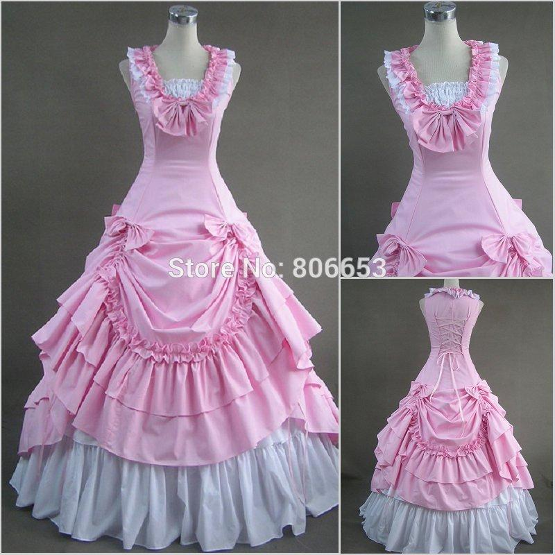 2019 Civil War Costumes Southern Belle Costume Pink Victorian Ball Gown  Gothic Lolita Dress Plus Size CW023 From Lailanbiao, $139.72 | DHgate.Com