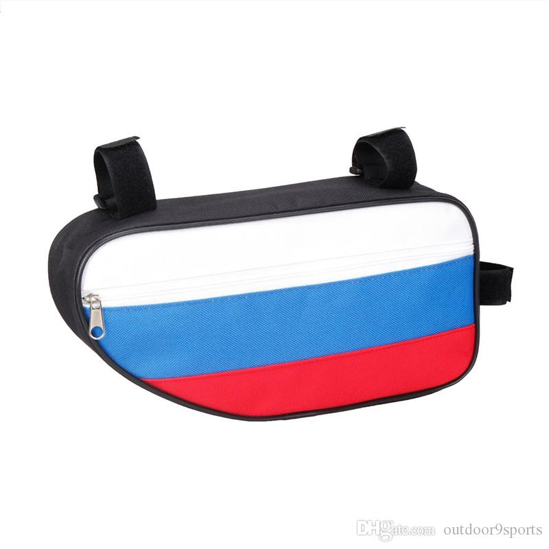 New Cycling Bicycle Accessories Triangular Beam Bag Mountain Bike Front Saddle Bag Kit Panniers Riding Equipment Storage Bags for Sale