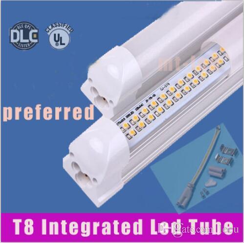 LED Tüp Işık 8ft (Tüp + Baz All-in-One) Entegre Lamba SMD 2835 2.4 M 2400mm 8 Feet AC85-265 V 6500LM 65 W LED Tüp Lambaları + CE UL