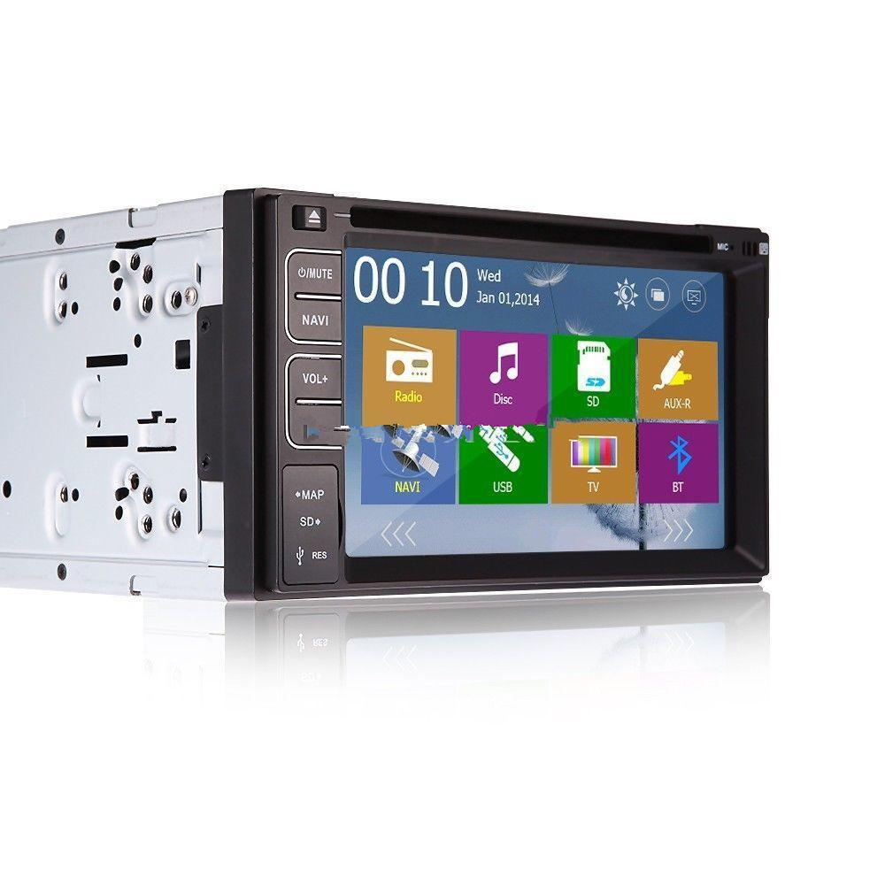 """Universal 6.2 """"Touch Screen Car DVD GPS Navigation Player 2 Din Car Radio Stereo With FM/AM USB/SD Bluetooth TV"""