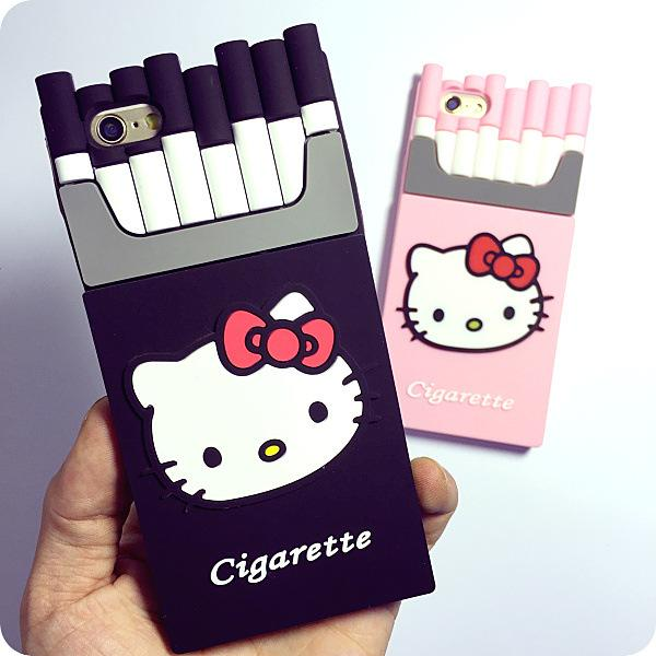 new concept a11a3 e0e59 Cheap Hello Kitty 3d Cigaret Silicone Case Smoking Kills Cigarette Phone  Case For Iphone 5 5s 6 6plus S5 S6 Cover Case, Buy Free Cell Phone Cases ...