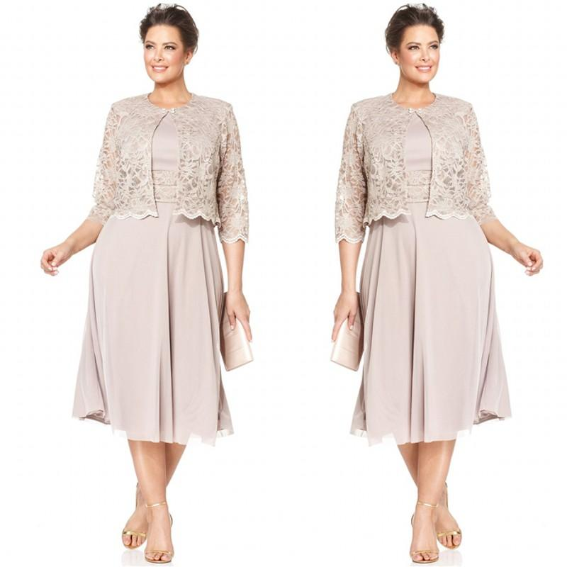 Bride Short Plus Size Mother of the Dress