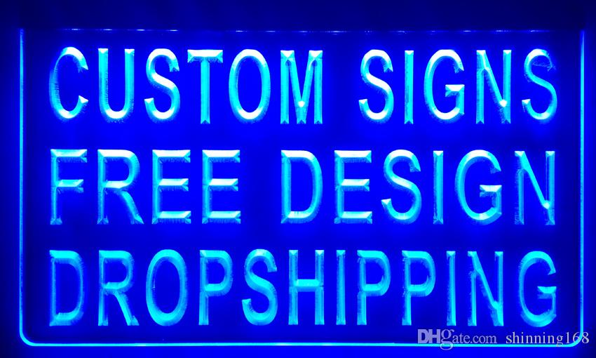 LS001 design your own custom Light sign hang sign home decor shop sign home decor