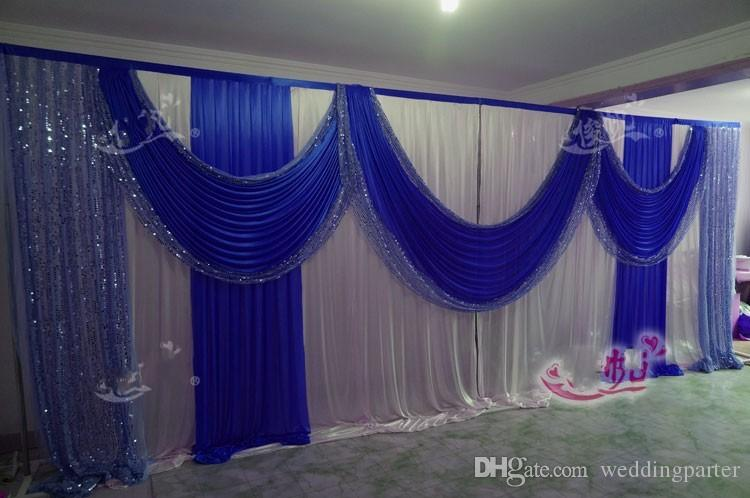 3m 6m10ft 20ft Beautiful Royal Blue Wedding Backdrop Sequins Swag Ice Silk Stage Background Curtain Wedding Decorations Party Kits Party Light Decorations From Weddingparter 140 71 Dhgate Com