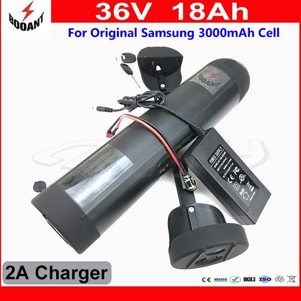 Электрическая батарея 36V 18Ah для батареи лития 36V мотора 800w Bafang разъема 30A BMS с клеткой оригинала 18650 заряжателя 2A