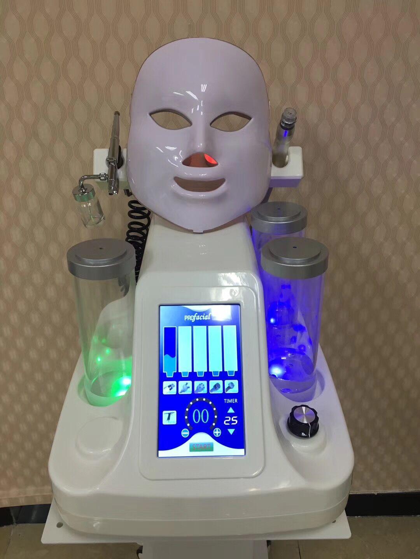 7 in 1 led maske wasser aqua dermabrasion peeling reinigung akne behandlung dermabrasion mitesser entfernung gerät