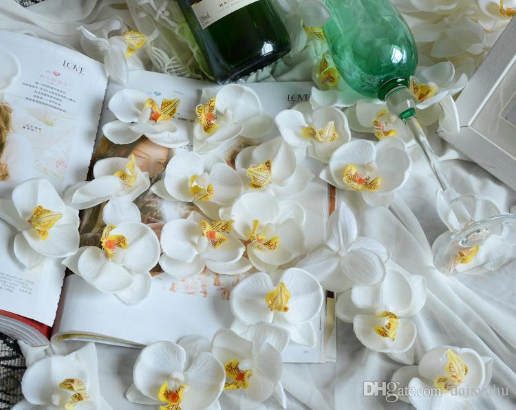 2018 9cm artificial orchid flowers petals silk orchid fabric petals 9cm artificial orchid flowers petals silk orchid fabric petals pefect for wedding decor accessories home decoration mightylinksfo