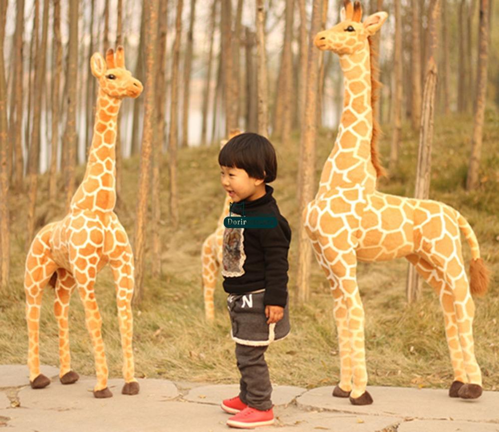 Dorimytrader 55'' / 140cm Large Stuffed Soft Plush Giant Emulational Animal Giraffe Toy, Nice Birthday Gift For Baby, Free Shipping DY60659