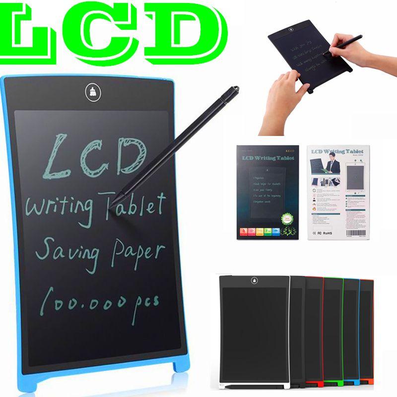 شاشات الكريستال السائل قرص الكتابة الرقمية المحمولة 8.5 بوصة لوحة الرسم بخط اليد لوحات الإلكترونية اللوحي للبالغين أطفال الأطفال