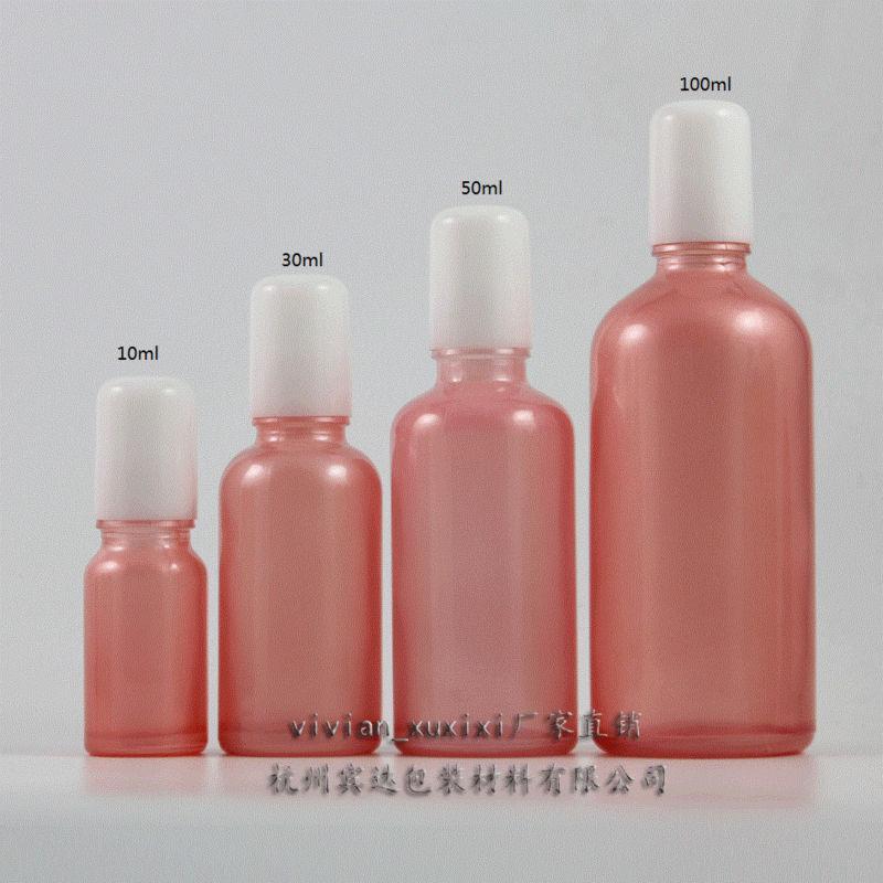 아이 크림, 유리 병, essentical 오일 향수 병, 향수 용기에 10ml의 분홍색 유리 롤
