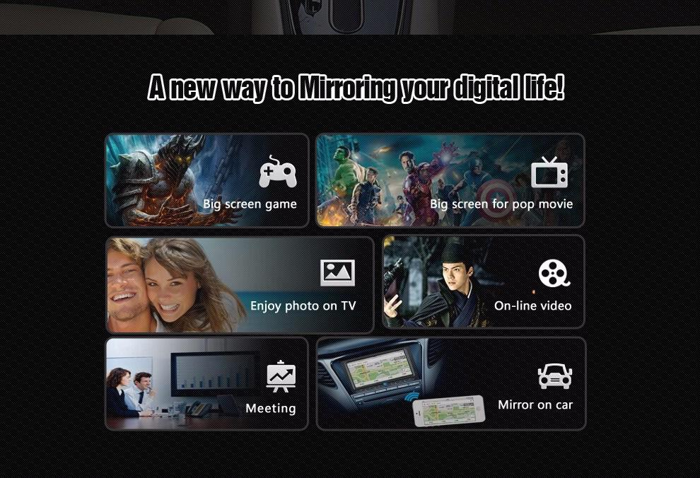 Mirabox 5G Car Mirror link Box For iOS10 With HDMI And CVBS(AV) Ports Car Mirrorlink Box For Android Support Youtube (2)