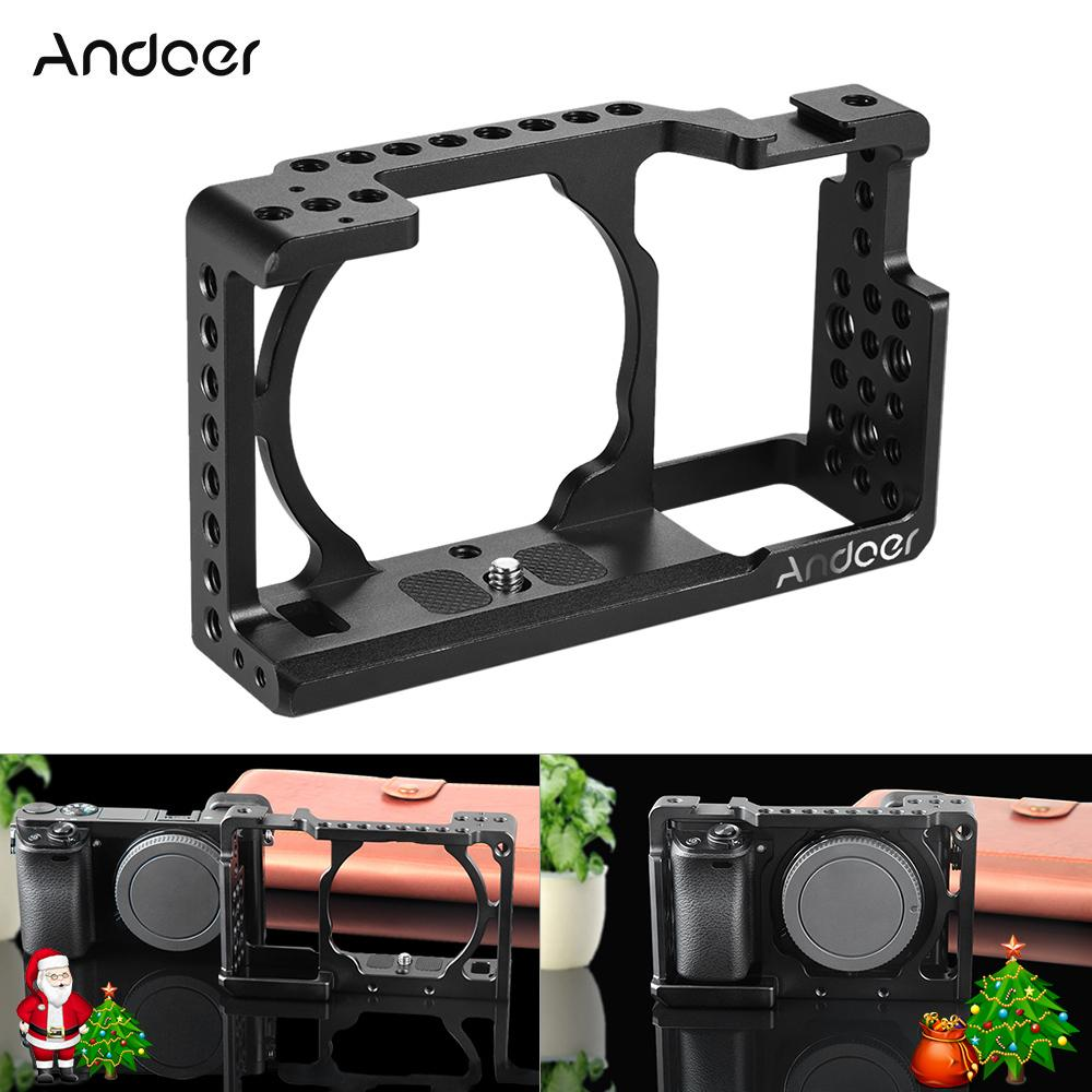 Andoer-Video-Camera-Cage-Protective-Camera-Stabilizer-for-Sony-A6000-A6300-NEX7-ILDC-to-Mount-Microphone