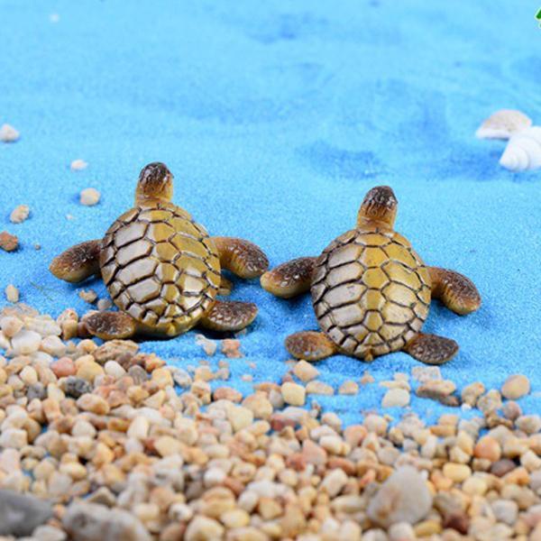 5pcs 바다 거북 요정 정원 동상 홈 인테리어 수 지 공예 succulents 수족관 탱크 테라리움 그놈 Jardin 소형 해변