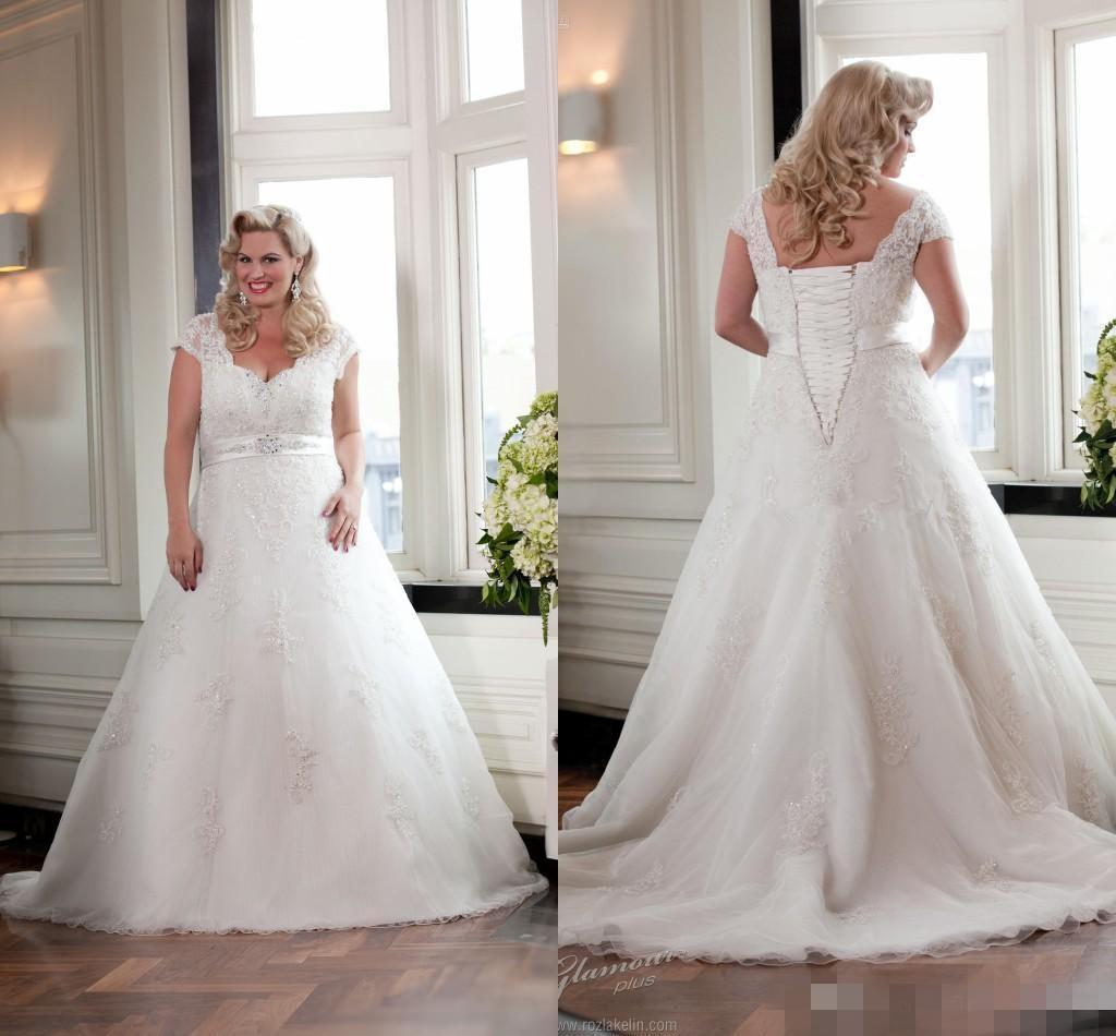 Lace wedding dresses size 14