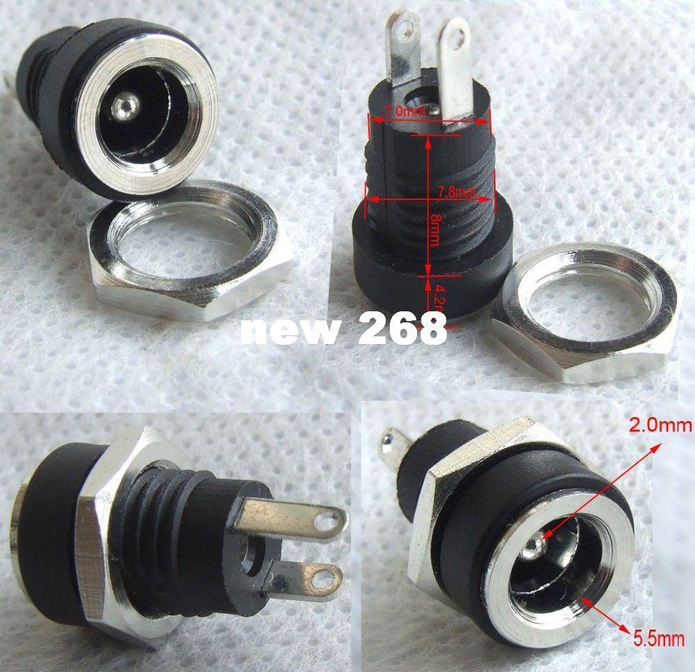 500PCS 5.5mmx2.1mm DC-Strom-Jack-weiblicher Plattenberg-Verbindungsstück