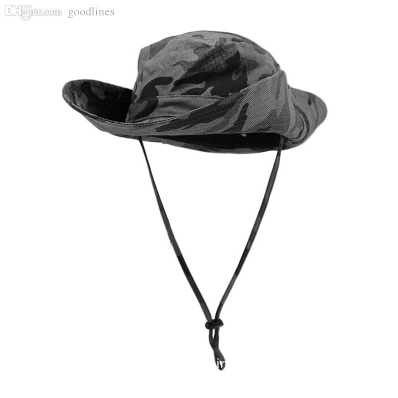 Wholesale-Outfly Wilderness Fishing Hats Hiking Photography Cap Sun UV Protection Visor Hat Camouflage 5 Color