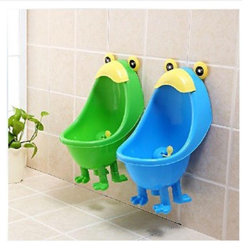 2016 quente! Rã Urinol Potty Formação Meninos Bebê Toalete Pendurar Na Parede Crianças Urinárias Mictório