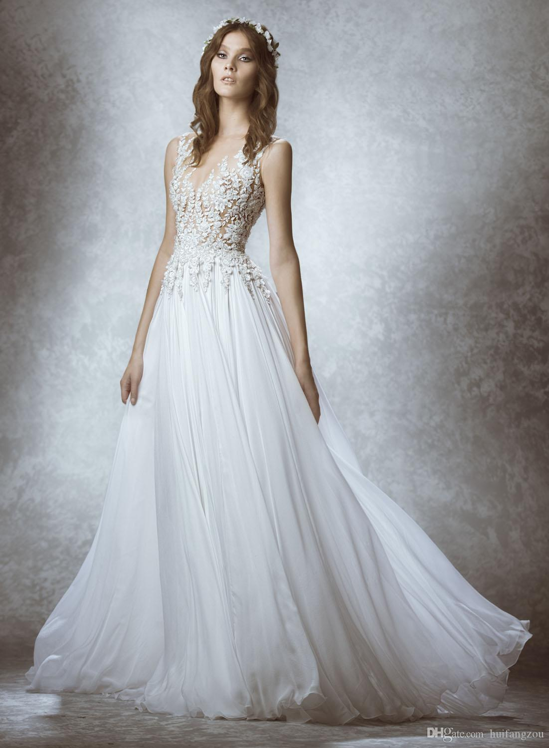 Discount Beauty Zuhair Murad Boho Wedding Dress V Neck Bohemian ...