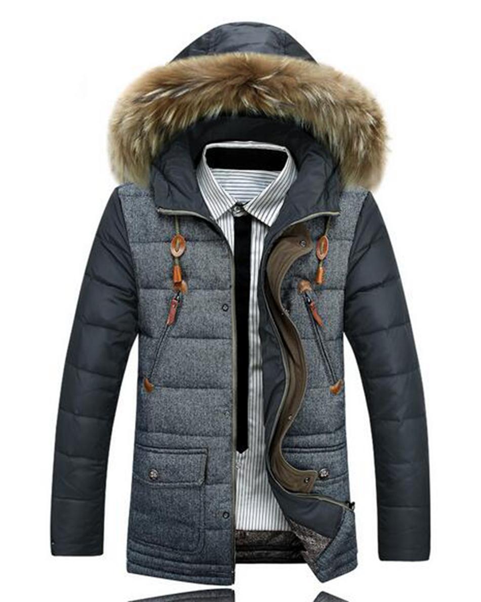 따뜻한 겨울 야외 패션 새로운 정통 레저 재킷 코트 아래 하나의 도덕성 남성 후드 지퍼 모직 옷을 육성. S - 3xl