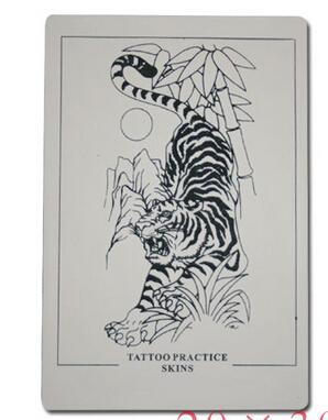 YILONG Tattoo Accessories 5pcs/Lot Tattoo Tiger Practice Skin Fake Skins For Body&Art Free Shipping
