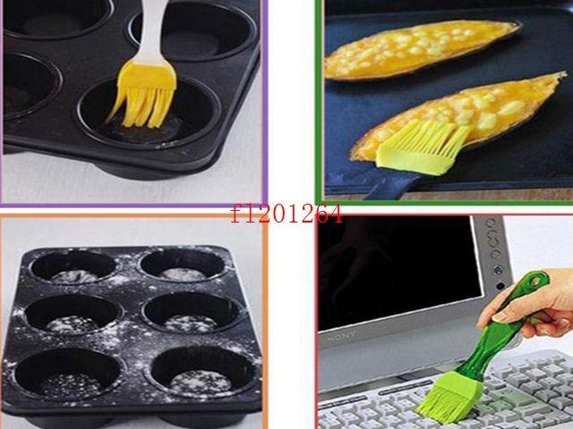 100pcs / lot DHL 무료 배송 고온 방지 실리콘 바베큐 브러쉬 베이킹 도구 바베큐 브러시 오일 브러쉬 요리 도구