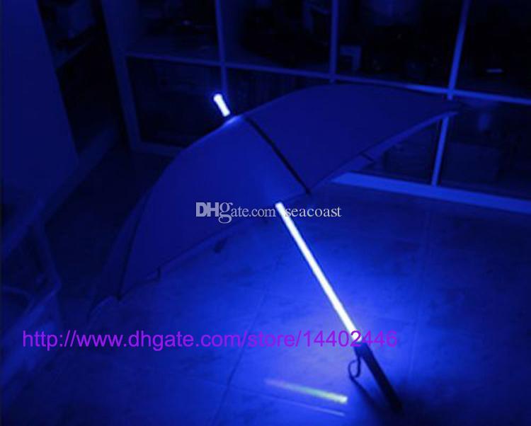 10pcs / lot 쿨 블레이드 러너 라이트 세이버 LED 플래시 라이트 우산은 우산 병 우산 손전등 야간 워커 장미