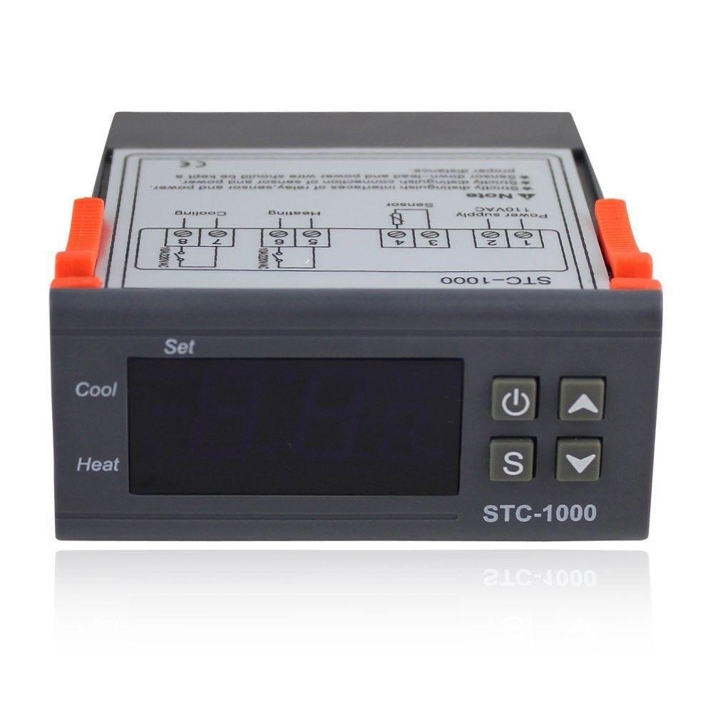 Universal -50-99 Degree STC-1000 Digital LCD Thermostat Regulator Temperature Controller Thermostat w/ Sensor AC 110V 220V 24V 12V 50