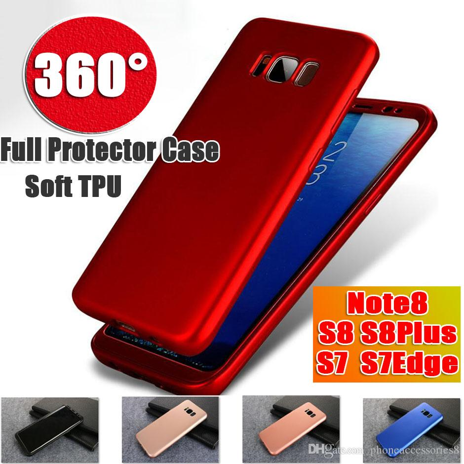 new style 2bf4c 5c4d3 360 Degree Full Protection Soft TPU Phone Case For Samsung Galaxy S9 S9Plus  S8 S8Plus Note8 S7Edge S7 S6Edge Case With Screen Protector Wholesale Cell  ...