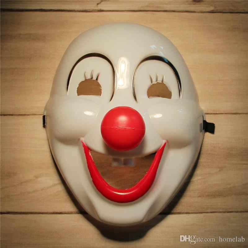 2015 Halloween Jester Jolly Cartoon Maschera Rifornimenti del partito festivo veneziano Mardi Gras maschere per le maschere da ballo in PVC Full Face Mens Clown Mask