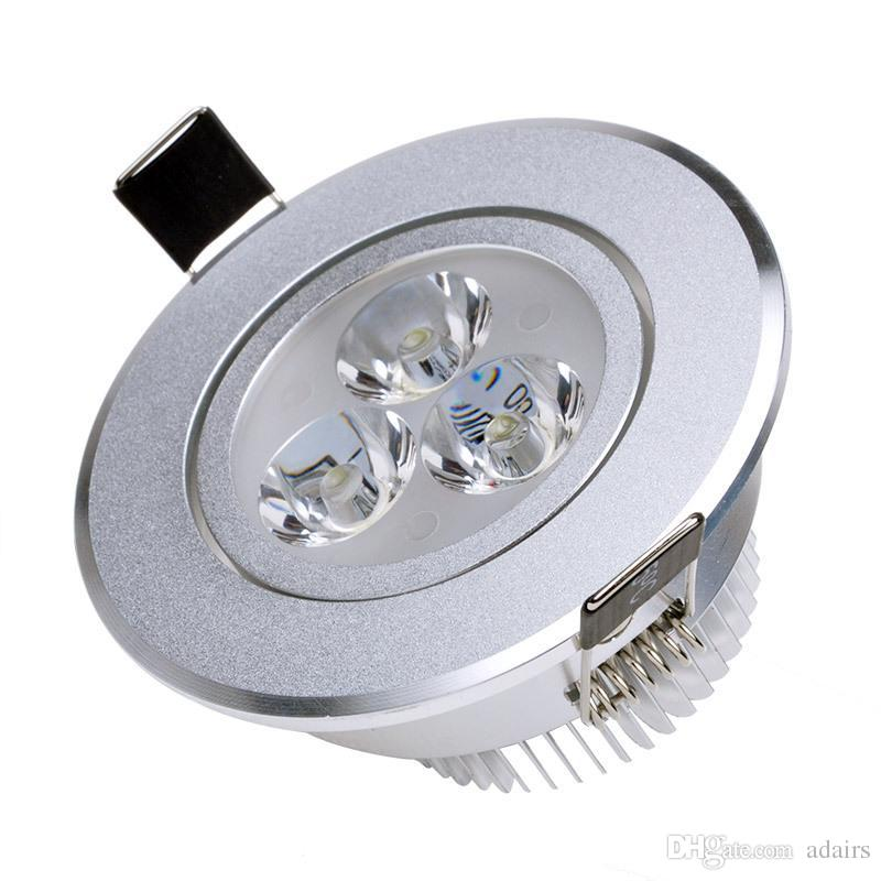 3 W 110 V 220 V LED Tavan Downlight Sigara Kısılabilir LED Downlight Sıcak / Soğuk Beyaz LED Tavan Lambası Ev Kapalı Aydınlatma