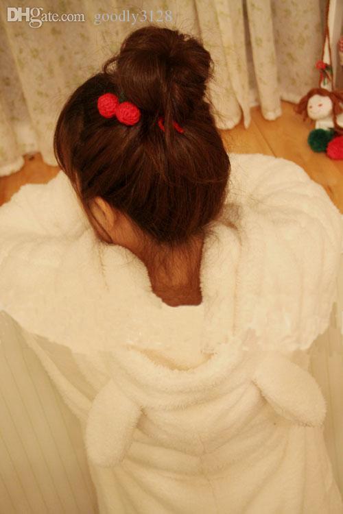 도매 - 여성 코트 재킷 베어 후드 티 소녀 루즈 한 무성한 만화 귀 후드 재킷 따뜻한 아웃웨어 코트 스웻 셔츠 H393