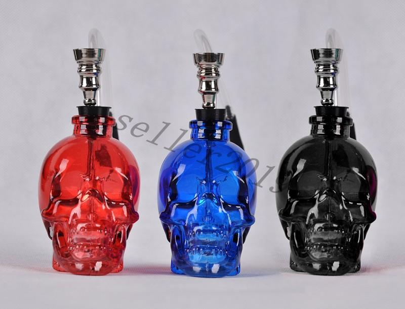 New Glass Bongs Water Pipe Hookah Smoking Tobacco Pipes Filter Punk Ghost Head Skull Shaped Hookah Portable Fashion Best Gifts Free Shipping