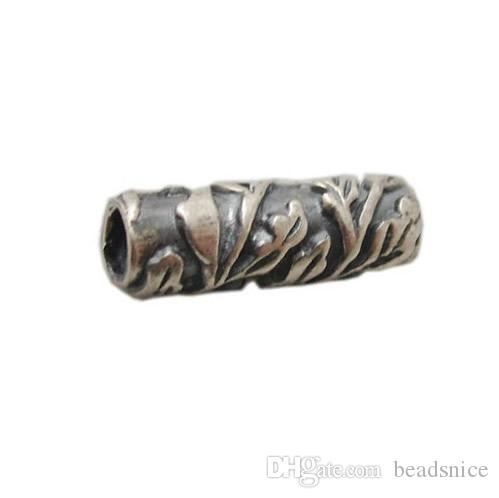 Beadsnice ID 24321 silver tube spacer beads jewelry metal beads necklace making component 12x4mm fashion jewelry wholesale free shipping