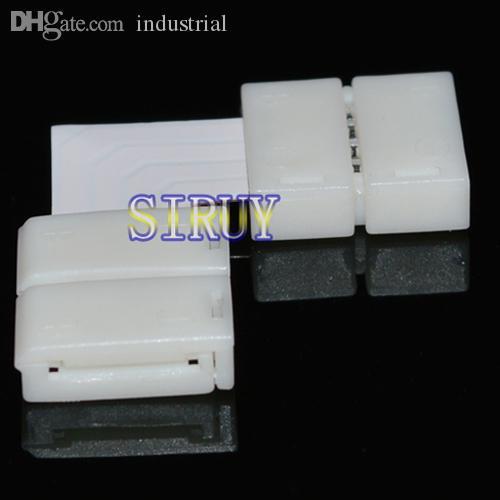"""5050/5730 RGB LED Strip için Toptan-5sets / lot LED RGB şerit PCB kartı konektörü 10mm 4pin """"L"""" tipi konnektör"""