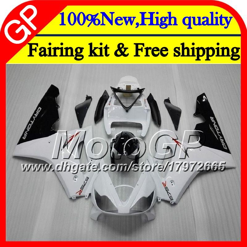Body For Triumph Daytona 675 02 03 04 05 06 07 08 7GP7 Daytona 675 blanco brillante 2002 2003 2004 2005 2006 2007 2007 2008-08 Motorcycle Carenado