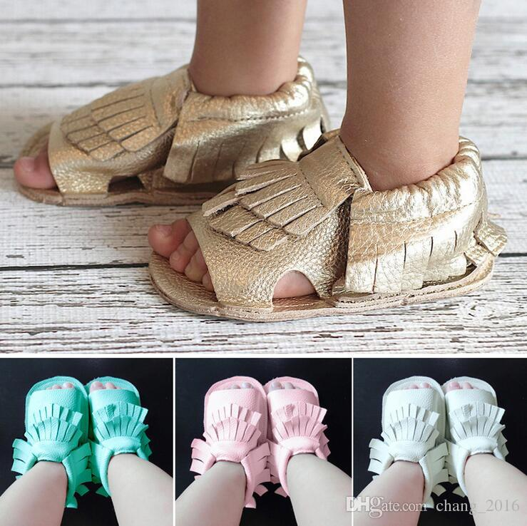 Baby Girl Moccasins PU Sandals Leather