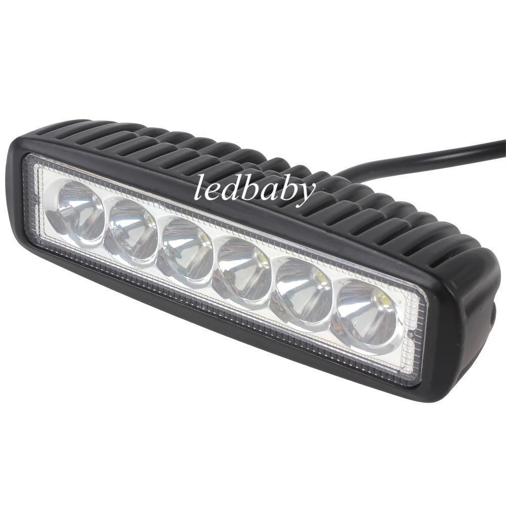 1550LM Mini 6 pollici 18W 6 x 3W CREE LED Bar lavoro luce come Worklight / luce di inondazione / Spot Light per canottaggio / Caccia / Pesca