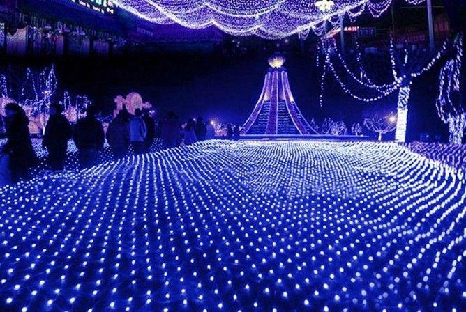 6 M * 4 M net lâmpada luzes flash lâmpadas à prova d 'água redes casamento fundo decorativo cortinas luzes luzes de natal