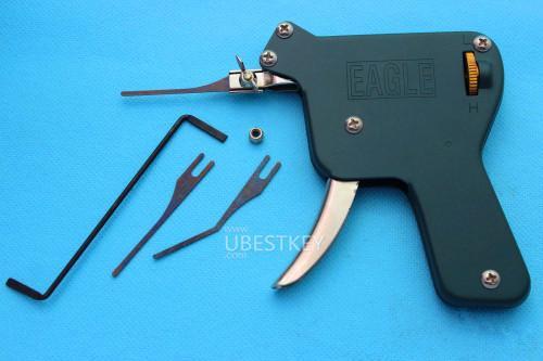 Alta calidad EAGLE Manual Pick Gun lockpick conjunto herramienta de desbloqueo cerrajero herramienta de mano de metal verde envío gratis