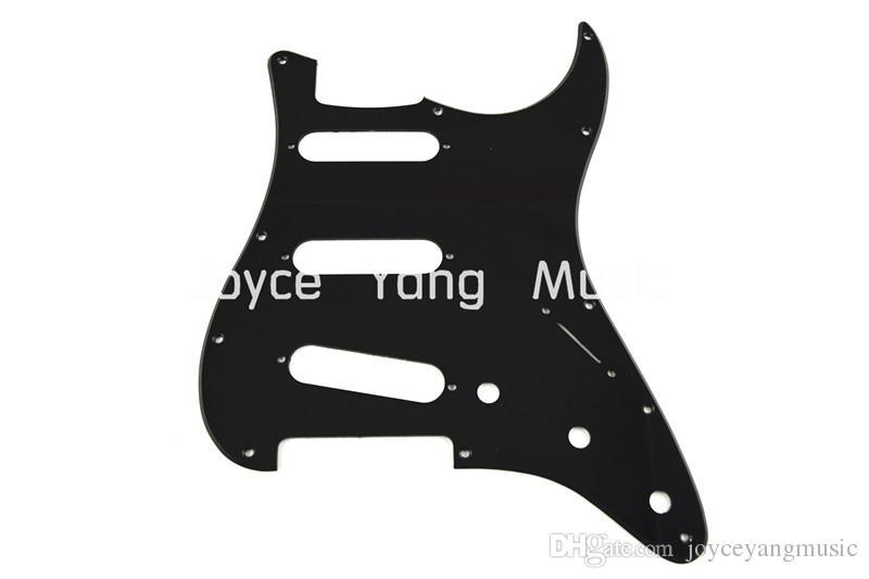 Çamurluk Strat Stil Elektro Gitar Ücretsiz Kargo toptan İçin Yeni Siyah 1 KAT Elektro Gitar Pickguard