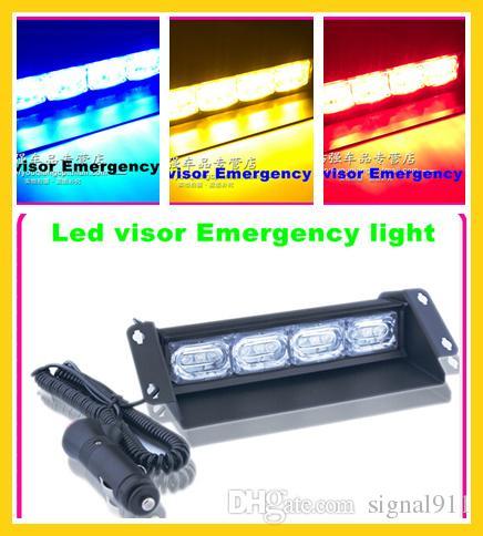 High quality 12W Led car visor warning light,led strobe light,dash light,waterproof
