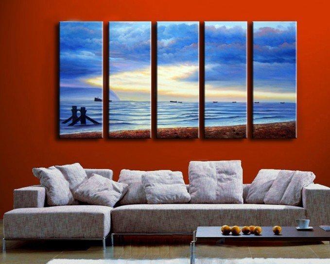 Dipinti Per Soggiorno : Acquista alle pareti dipinti a mano immagini il soggiorno in barca