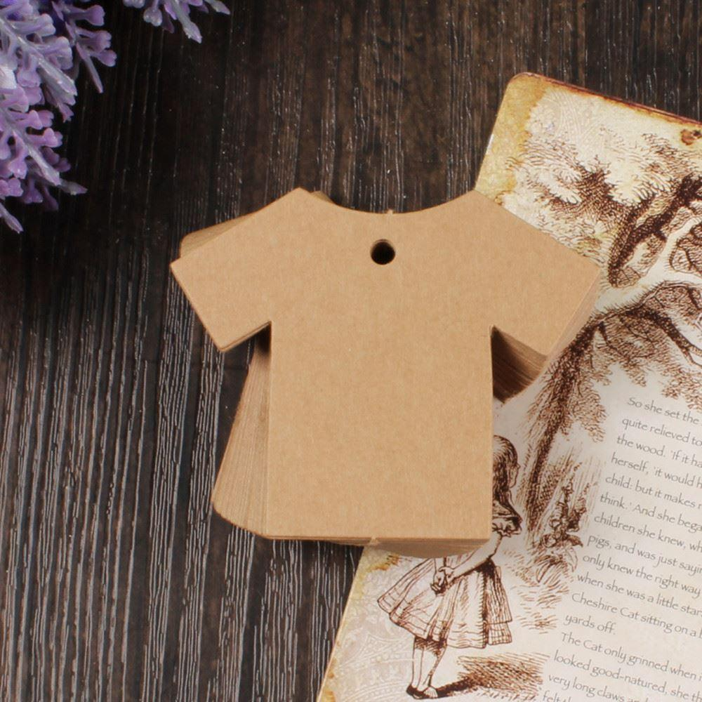 755cm cloth shaped kraft paper party wedding note diy blank price short description reheart Image collections