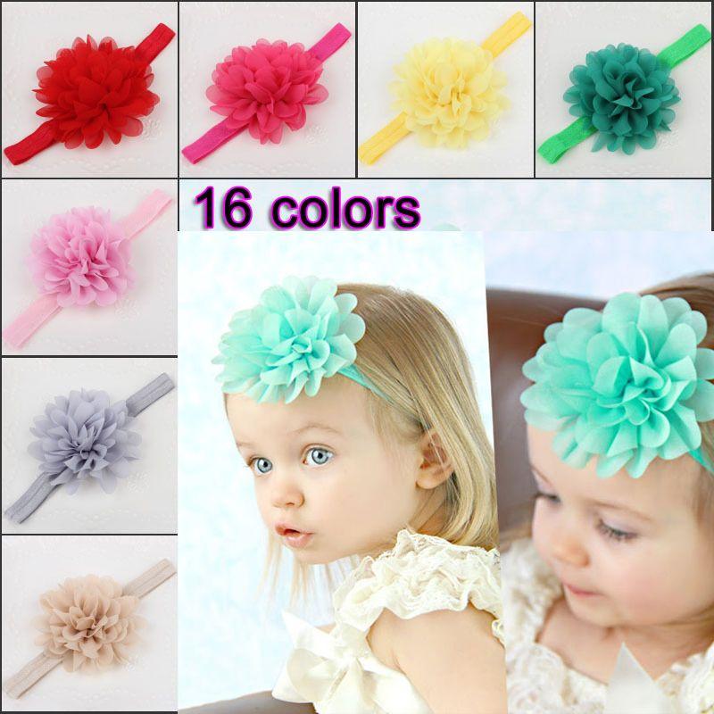 3pcs Infant Baby Mädchen Blume Bogen Stirnband Haarband Kinder Haarschmuck!