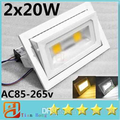 Bargain price Promotio 40W LED Floodlight Outdoor Flood Light 2X20W Projection Light Warm White /Cold White AC85-265V