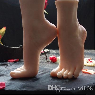 Weißes Mädchen Fuß Anbetung