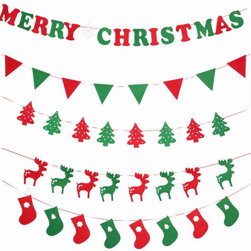 2019 Christmas Decorations Cartoon Tree Elk Letter Hanging Flag Festival Scene Decoration Home Shop Market Room Decoration 001 From Household Shop2